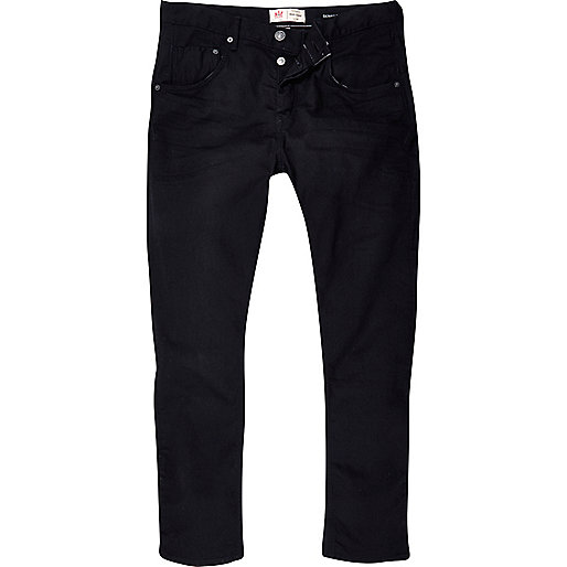 Black Chester tapered jeans