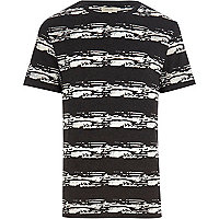 Dark grey burnout stripe t-shirt
