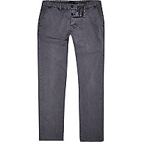 Dark grey slim chinos