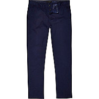 Dark blue slim chinos