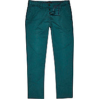 Jade green slim chinos