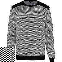 Black and white zig zag jumper