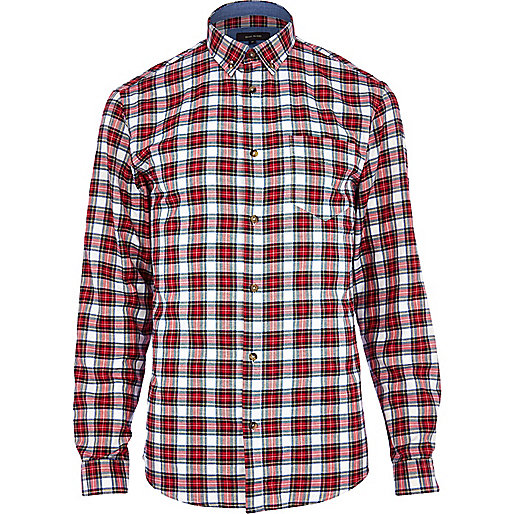 Red tartan long sleeve shirt