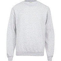 Grey marl crew neck sweatshirt