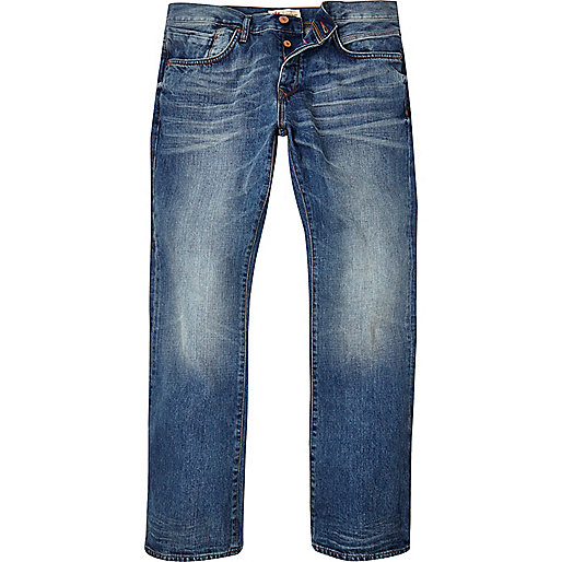 Mid blue wash Clint bootcut jeans