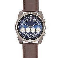 Dark brown oversized watch