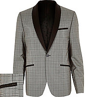 Black VITO check blazer