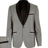 Black VITO check blazer
