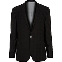 Black VITO plaid blazer