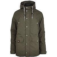 Khaki RVLT casual parka jacket