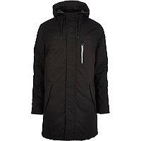 Black RVLT parka jacket