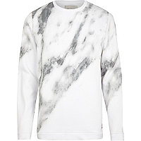 Ecru RVLT smoke print sweatshirt