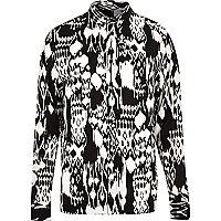 Black RVLT monochrome printed shirt