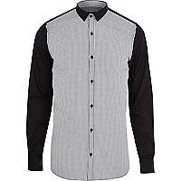 Black VITO contrast sleeve shirt