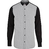 Black VITO contrast sleeve shirt