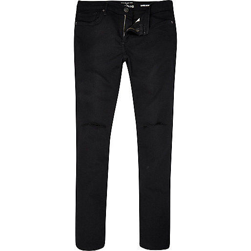 Black ripped Danny superskinny jeans