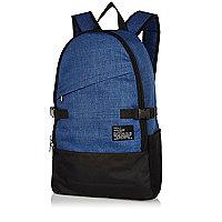 Navy slanted pocket backpack