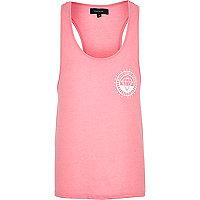 Pink diamond motif vest
