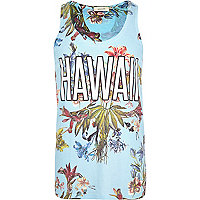 Blue Hawaii floral print vest