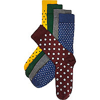 Mixed polka dot socks pack