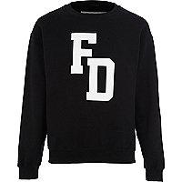 Black FATHERDUCK front print sweatshirt