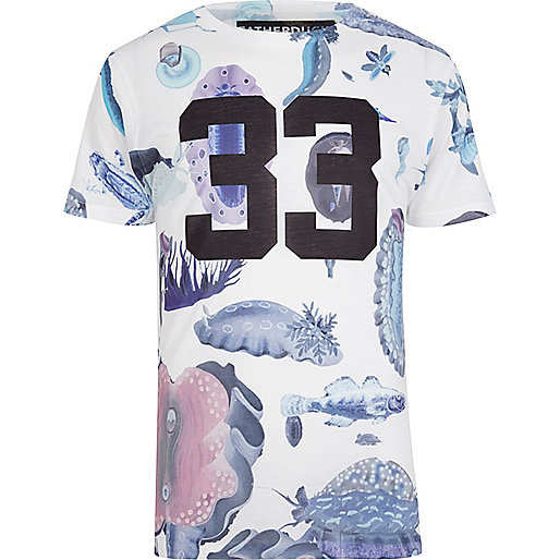 White FATHERDUCK bug print t-shirt