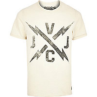 White Jack & Jones Vintage logo t-shirt
