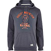Navy blue Jack & Jones Vintage print hoodie