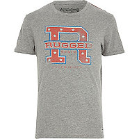Grey Jack & Jones Vintage rugged t-shirt
