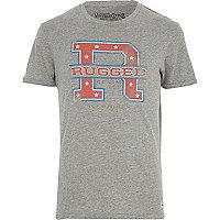 Grey Jack & Jones Vintage rugged t-shirt