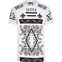 White Systvm abstract print t-shirt