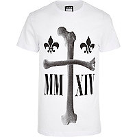 White Systvm cross bone print t-shirt
