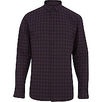 Purple dogtooth long sleeve shirt
