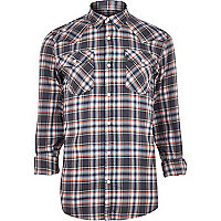 Blue Jack & Jones Premium western shirt