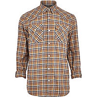 Yellow Jack & Jones Premium western shirt