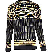 Blue Jack & Jones Vintage knitted jumper