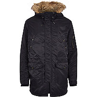 Navy Jack & Jones Premium parka jacket