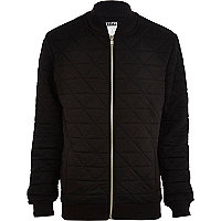Black Systvm quilted bomber jacket