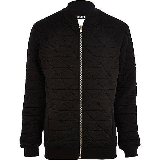 Black Systvm quilted bomber jacket