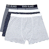 Grey spots and stripes boxer shorts pack