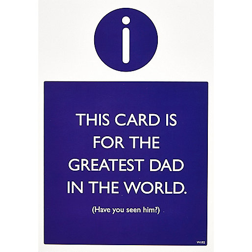 Greatest Dad father's day greeting card