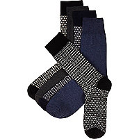 Mixed tile print socks pack