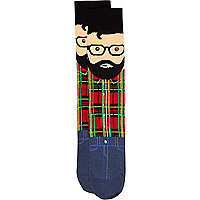 Black cool dude socks