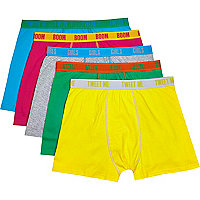 Multicoloured word print boxer shorts pack