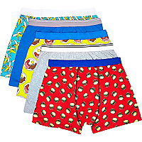 Mixed fast food print boxer shorts pack