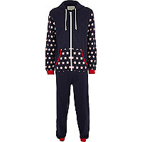Navy stars & stripes onesie