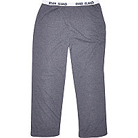 Blue marl jersey lounge trousers