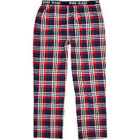 Red check lounge trousers