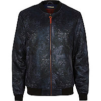 Navy Holloway Road bomber jacket