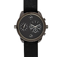 Black oversized watch